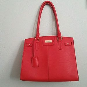 BCBG Red Structured Tote
